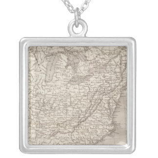 Canada and the United States Silver Plated Necklace