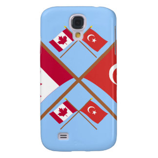 Canada and Turkey Crossed Flags Galaxy S4 Cases