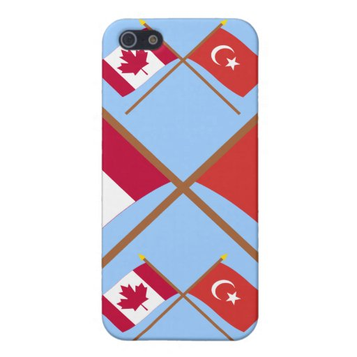 Canada and Turkey Crossed Flags iPhone 5 Cover