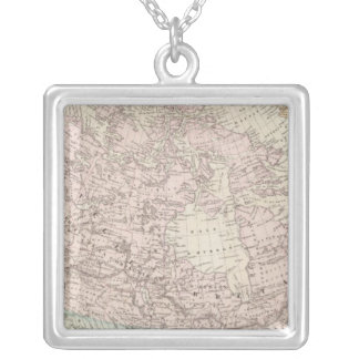 Canada and United States 2 Silver Plated Necklace