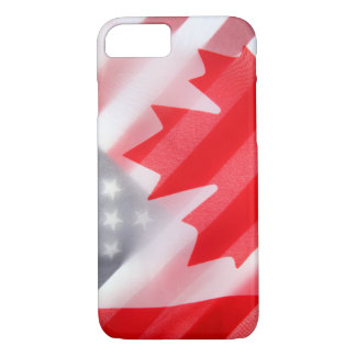 Canada and USA flags iPhone 7 Case