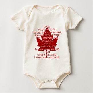 Canada Anthem Organic Baby Creeper Canada Shirt