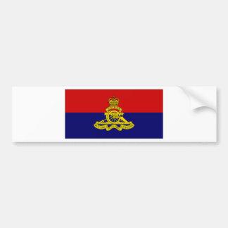 Canada Artillery Branch Camp Flag Bumper Sticker