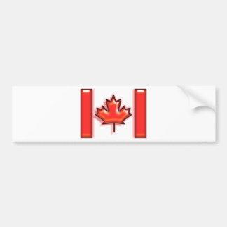 Canada (artist flag) bumper sticker
