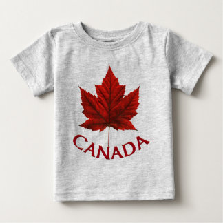 Canada Baby T-Shirt Red Maple Leaf Baby Shirt
