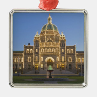 Canada, BC, Victoria, BC Legislature Building at Christmas Ornament