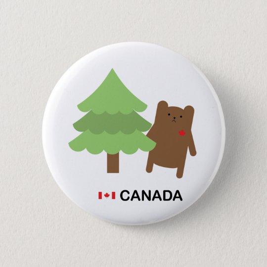 Canada Bear 6 Cm Round Badge