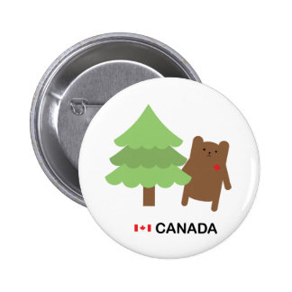 Canada Bear 6 Cm Round Badge