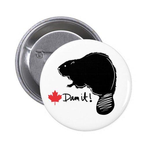 Canada Beaver 1 Button