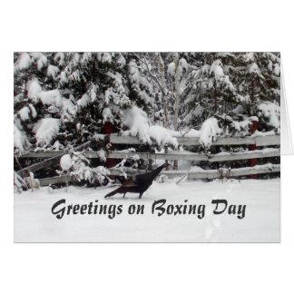 Canada Boxing Day Greeting Turkey Card