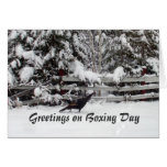 Canada Boxing Day Greeting Turkey Greeting Card