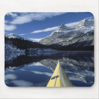 Canada, British Columbia, Banff. Kayak bow on Mouse Mat