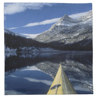 Canada, British Columbia, Banff. Kayak bow on Napkin