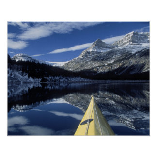 Canada, British Columbia, Banff. Kayak bow on Poster