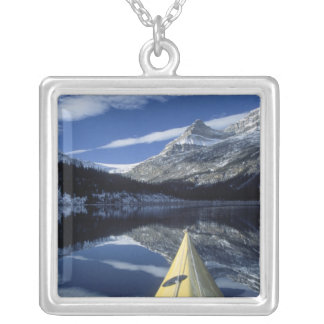 Canada, British Columbia, Banff. Kayak bow on Silver Plated Necklace