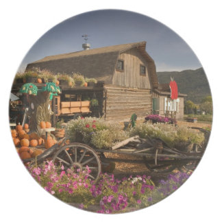 CANADA, British Columbia, Enderby. Log Barn Party Plate