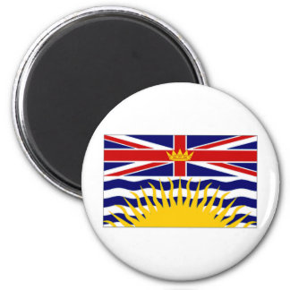 Canada British Columbia Flag 6 Cm Round Magnet