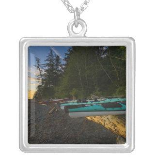 Canada, British Columbia, Vancouver Island, 2 Square Pendant Necklace