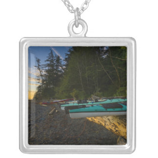 Canada, British Columbia, Vancouver Island, 2 Silver Plated Necklace