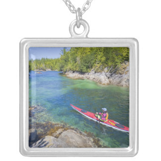Canada, British Columbia, Vancouver Island. Sea 2 Silver Plated Necklace