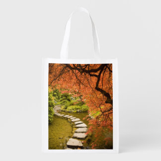 CANADA, British Columbia, Victoria. Autumn Reusable Grocery Bag