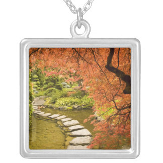 CANADA, British Columbia, Victoria. Autumn Silver Plated Necklace