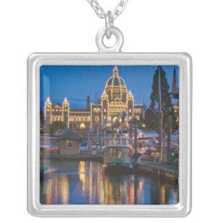 Canada, British Columbia, Victoria, Inner Square Pendant Necklace