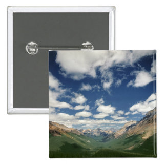 Canada, British Columbia, Yoho NP. Puffy clouds 15 Cm Square Badge