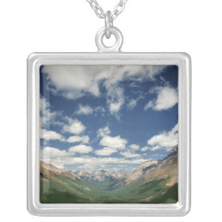 Canada, British Columbia, Yoho NP. Puffy clouds Silver Plated Necklace