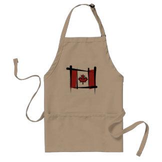 Canada Brush Flag Adult Apron