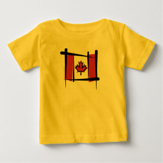 Canada Brush Flag Baby T-Shirt