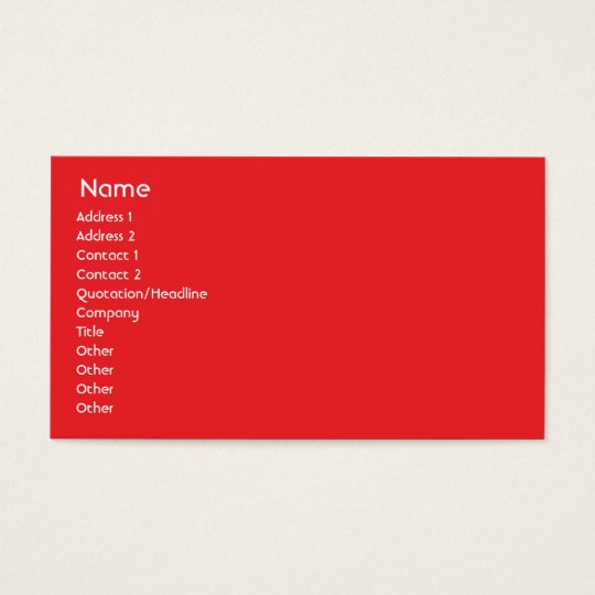 Canada - Business Business Card