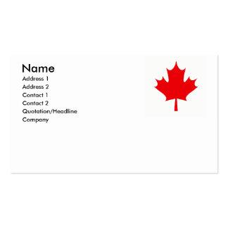 CANADA BUSINESS CARD TEMPLATE
