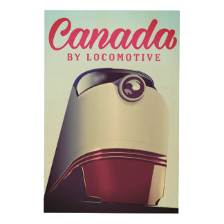 Canada By locomotive 1950s train poster