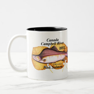 Canada Campbell River Pink Salmon. 2012 pink salmo Two-Tone Coffee Mug