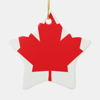 Canada Canadian flag Maple Leaf Ceramic Star Decoration
