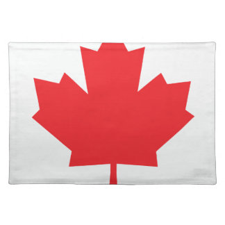 Canada Canadian flag Maple Leaf Placemat