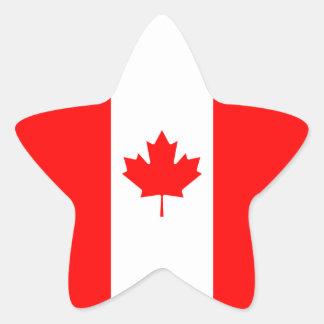 Canada/Canadian Flag Star Sticker