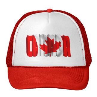 CANADA Canadian Flag Text Cap