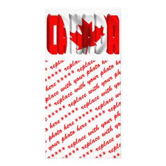 CANADA Canadian Flag Text Photo Card Template
