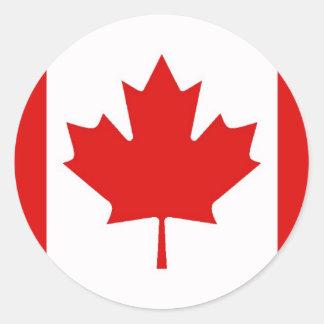 Canada Canadian Maple leaf flag Round Sticker