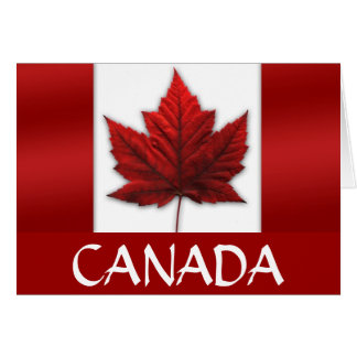 Canada Cards Canada Flag Greeting Cards Custom
