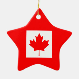 Canada Ceramic Star Decoration