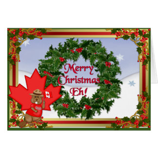 Canada Christmas Greeting Greeting Card