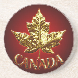 Canada Coaster Souvenir Coaster Gold Canada Gifts