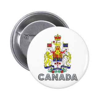 Canada Coat of Arms Pinback Buttons
