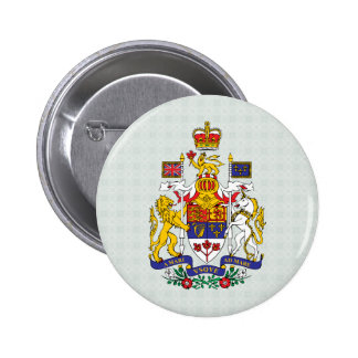Canada Coat of Arms detail Pinback Button