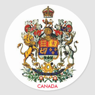 Canada Coat of Arms Round Sticker
