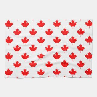 canada country flag symbol maple leaf pattern text tea towel