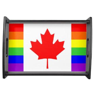 canada country gay flag symbol lesbian homosexual serving tray